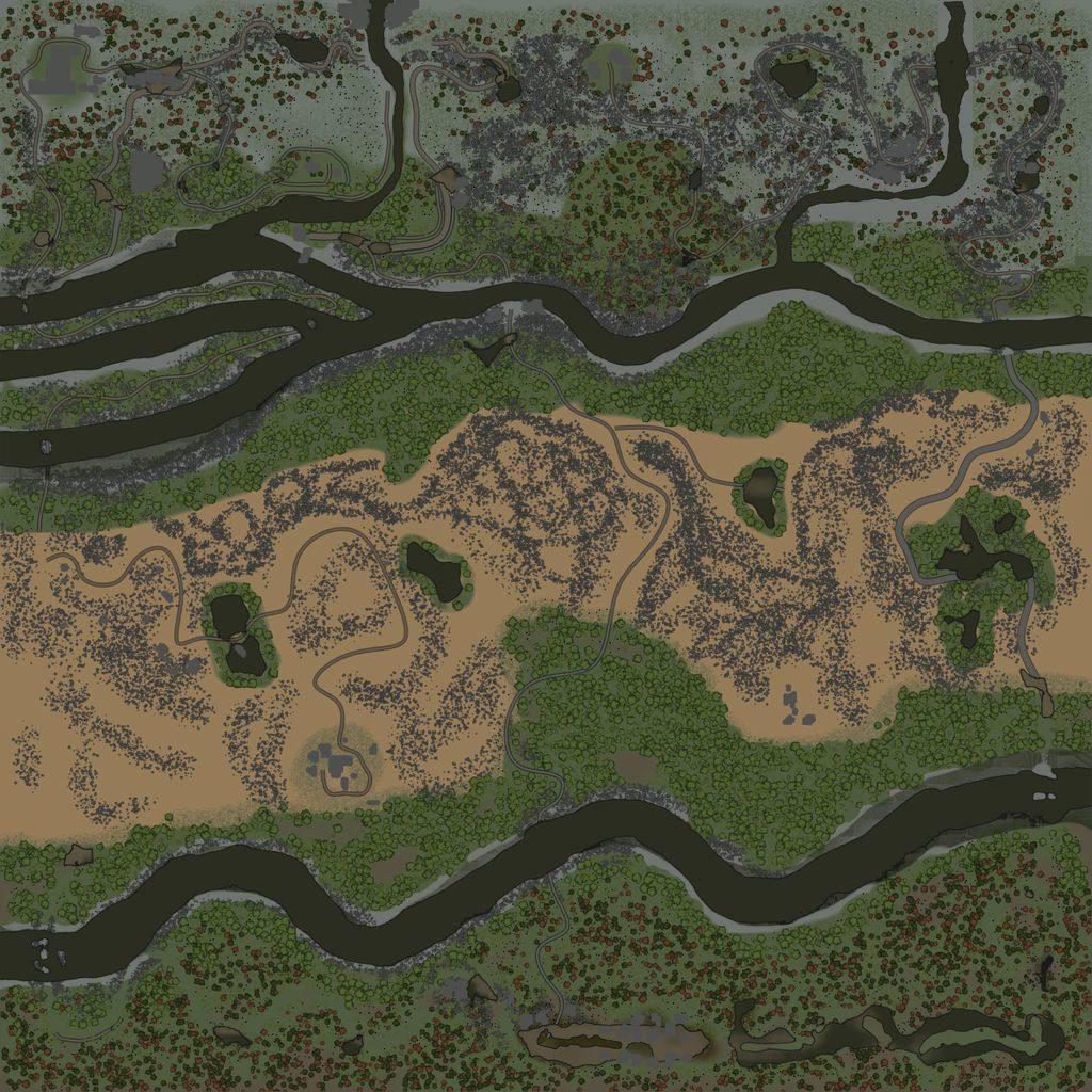 Карта «Через пустыню в горы»