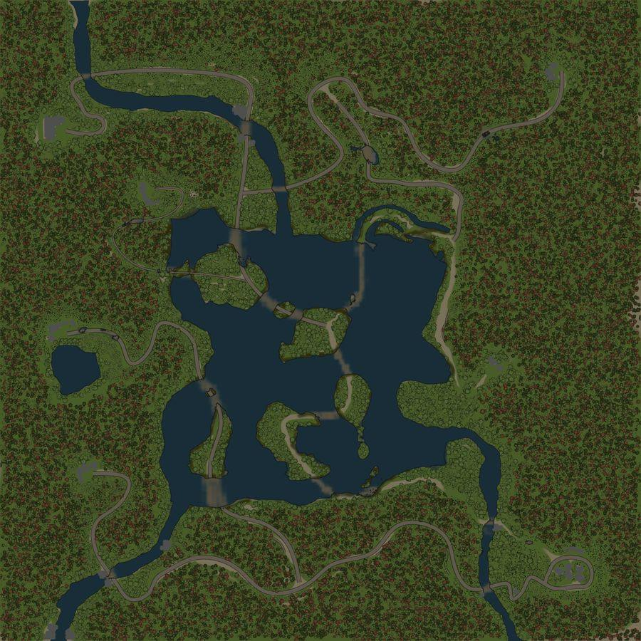 Карта «Лесное озеро»