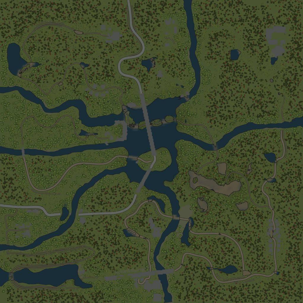 Карта «Лесной массив»