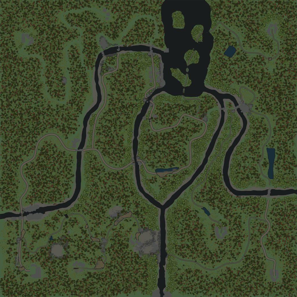 Карта «Много рек»