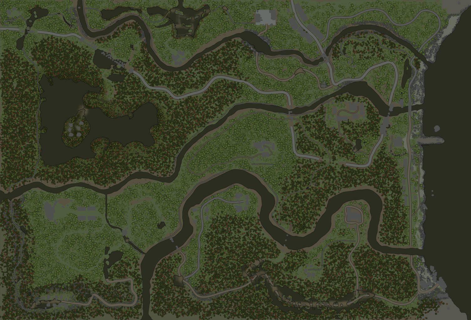 Карта «Рыбачий посёлок»