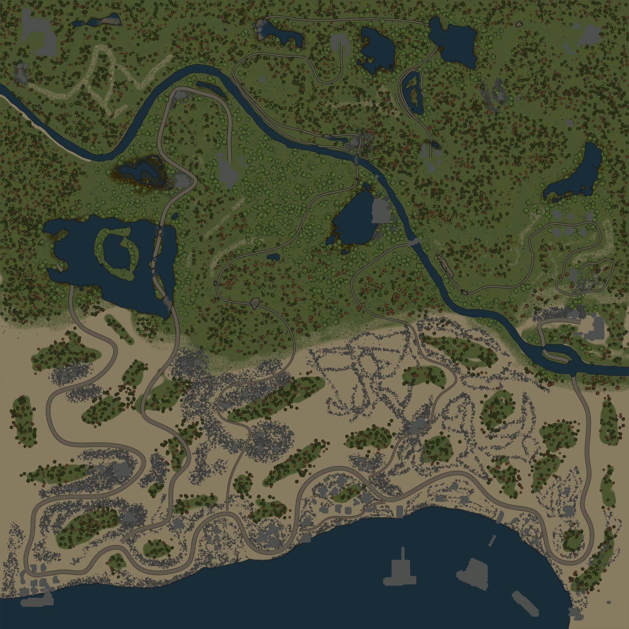 Карта «Песчаные дюны»