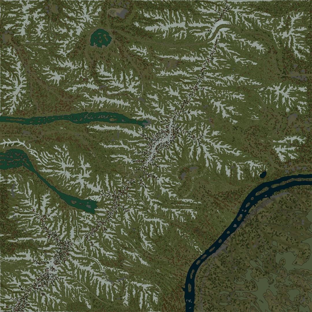 Карта «Тибетский Хребет»