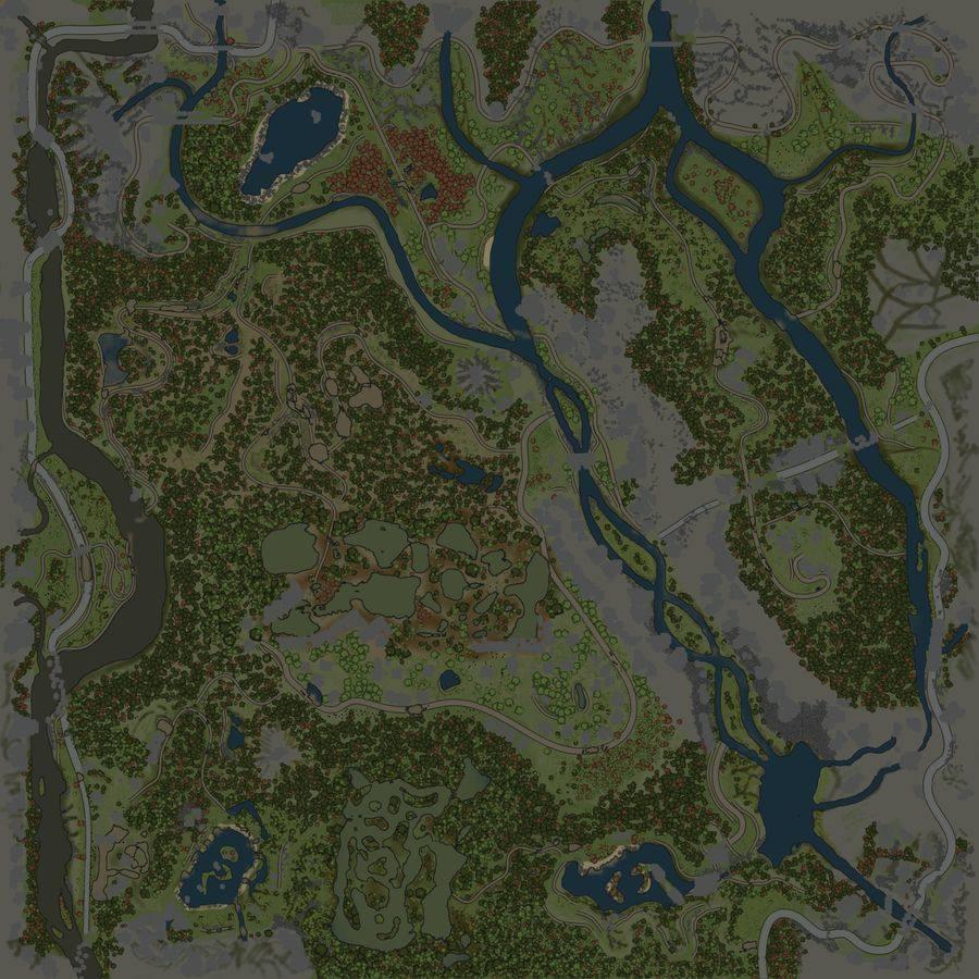 Карта «Поселения на склонах»