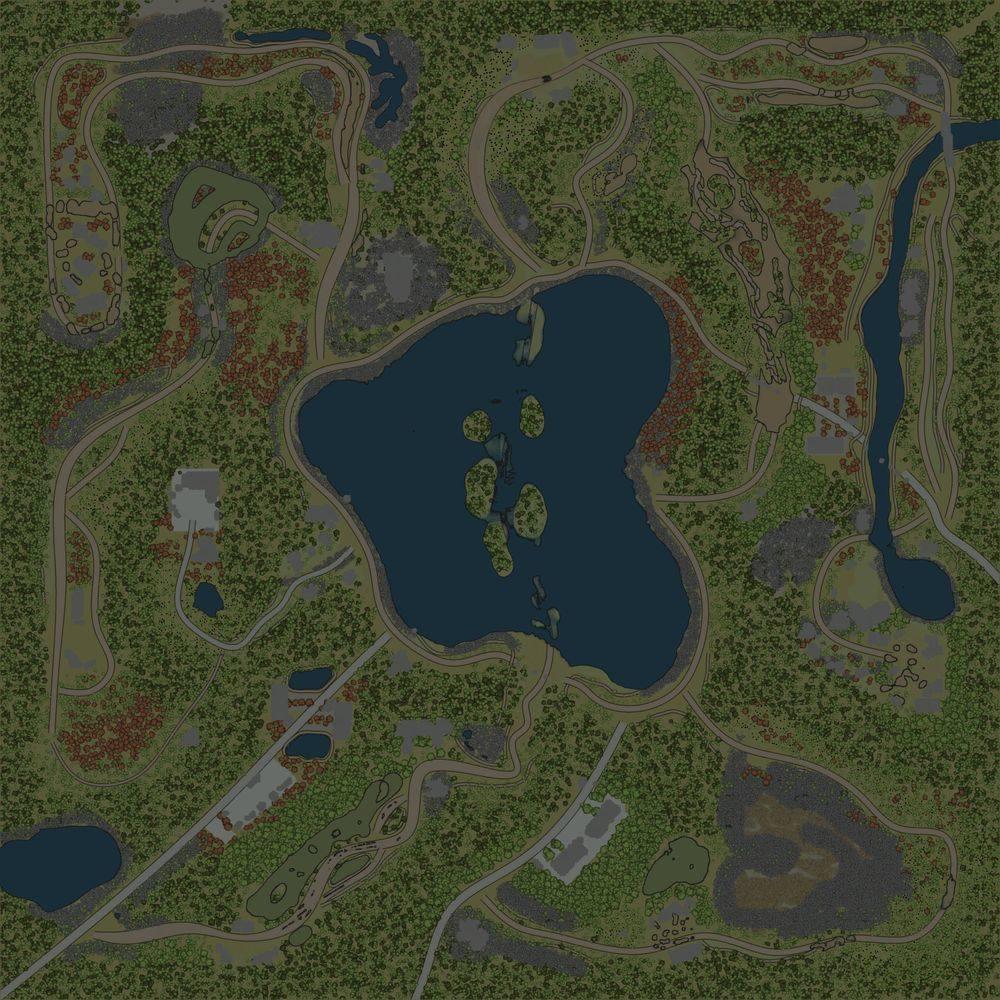 Карта «Там где Озеро»