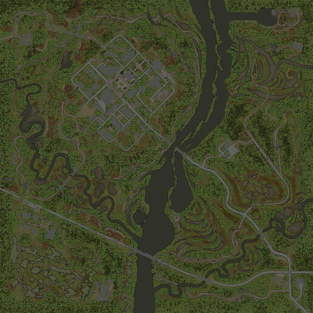 Карта «Недоступный город»