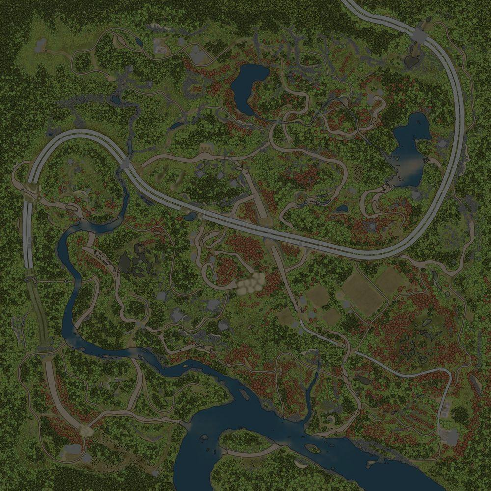 Карта «Строительство дороги»