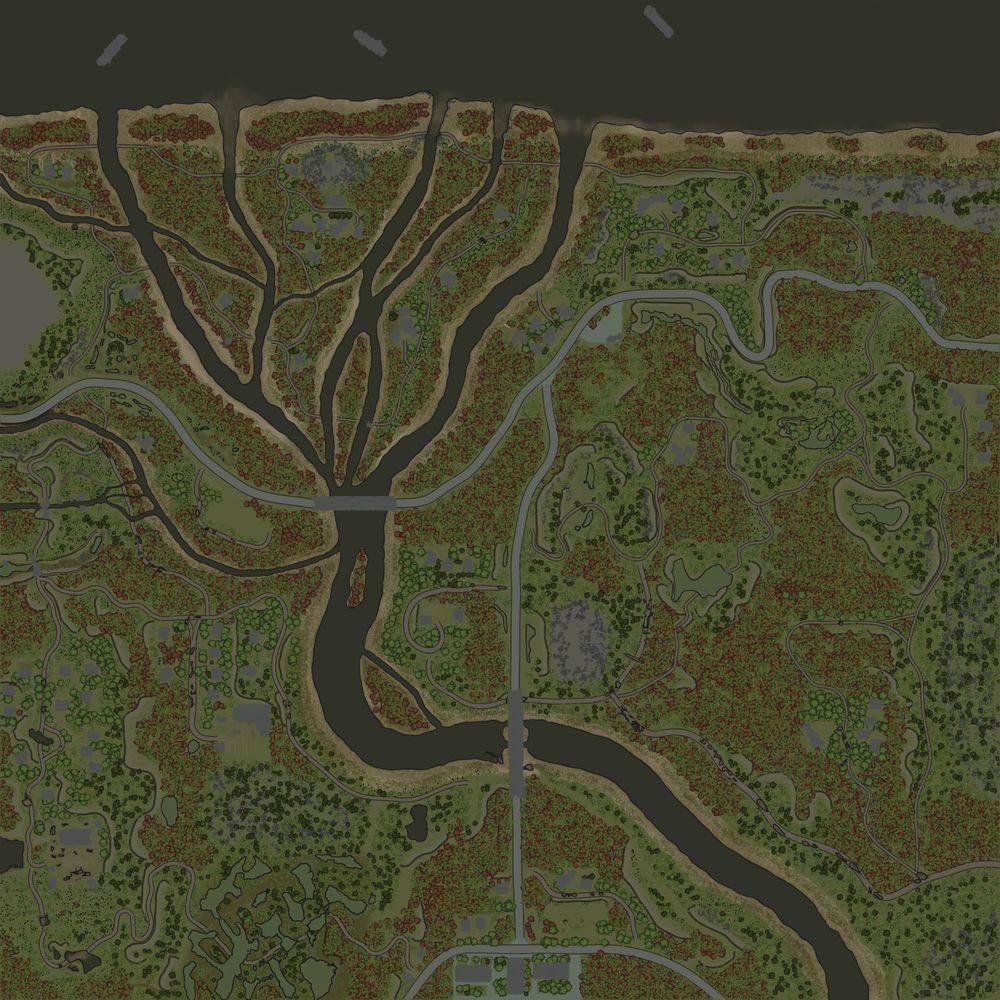 Карта «Межигорье: Вниз по реке (Хутора)»