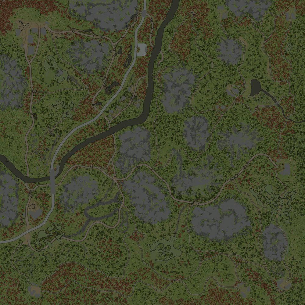 Карта «Среди гор»