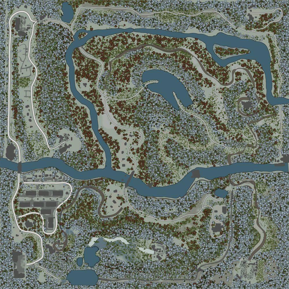 Карта «Камянка Зима»