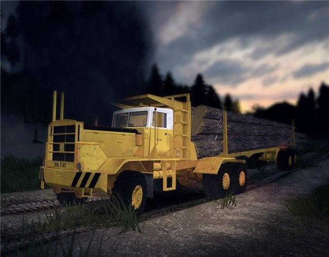"HAYES HQ 142 (HDX)"" logging truck full"
