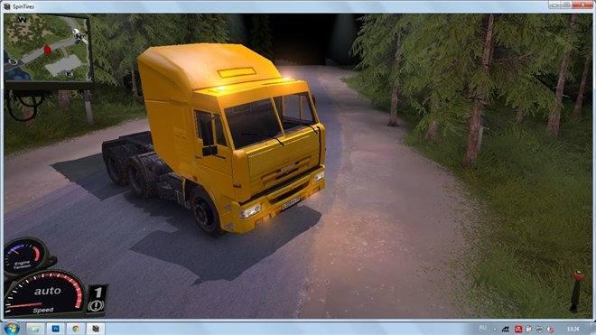 КамАЗ желтая кабина