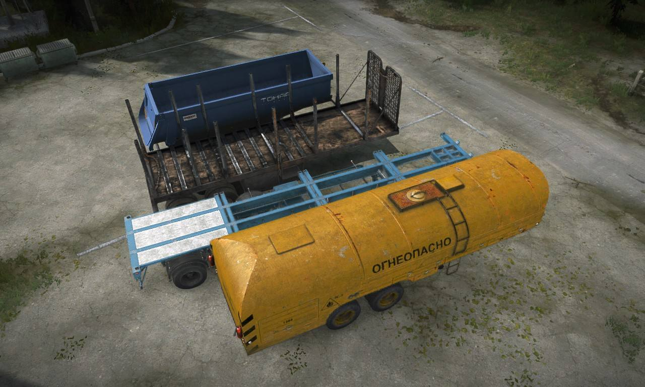 Полуприцепы контейнеровоз и Тонар