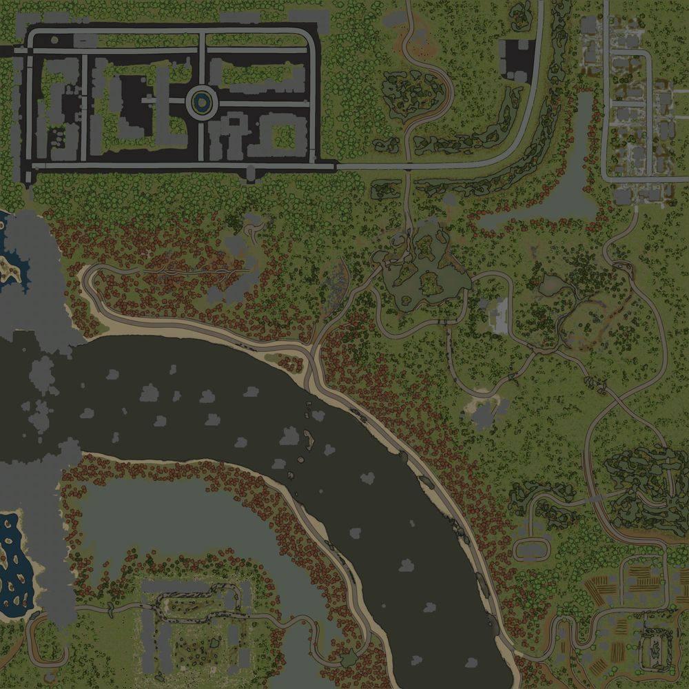 Карта «Maps Waterfall in Rocks Mono»