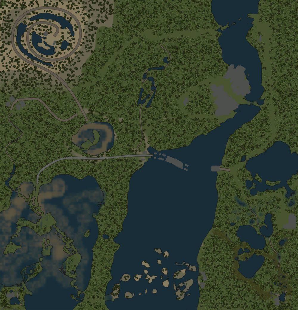 Карта «Окольными путями»