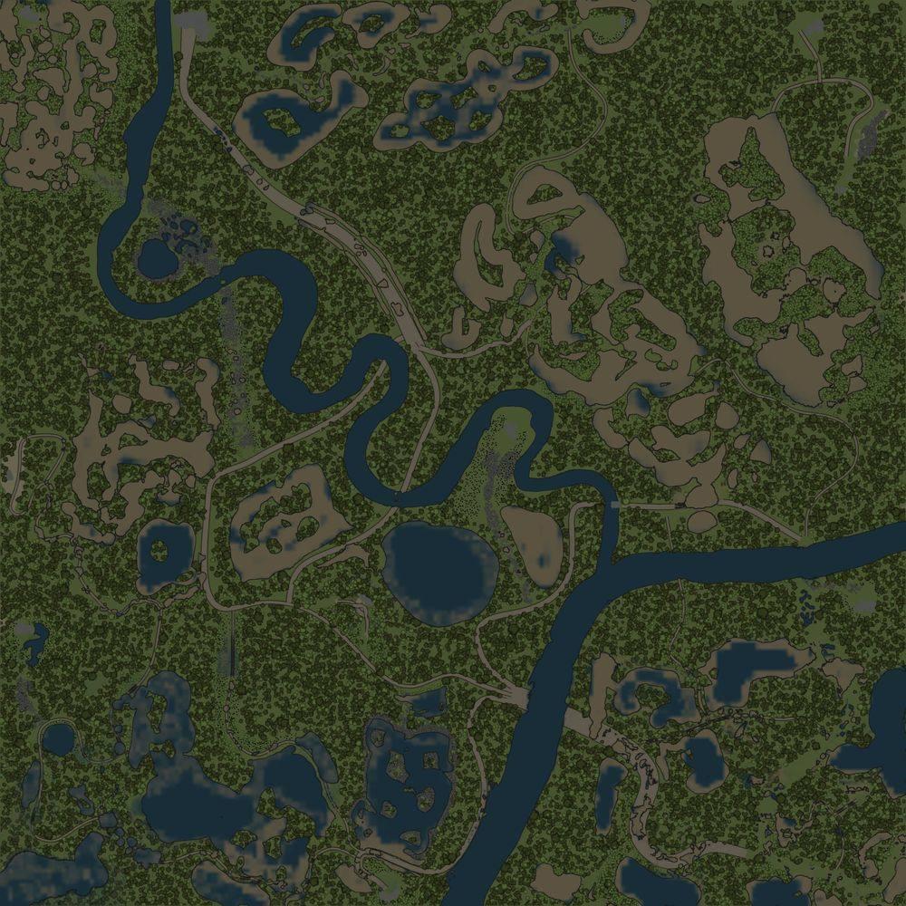 Карта «Затопленный лес»