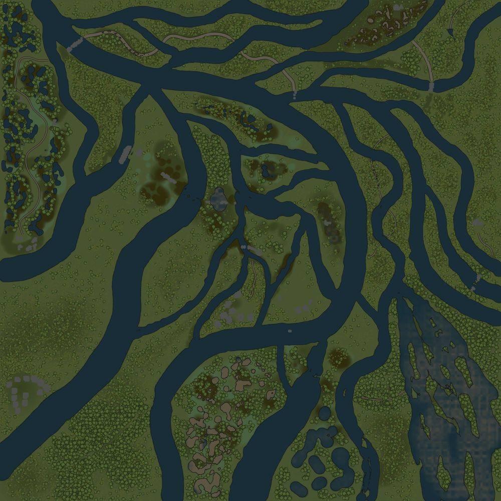Карта «Речной край 3 (Гать)»