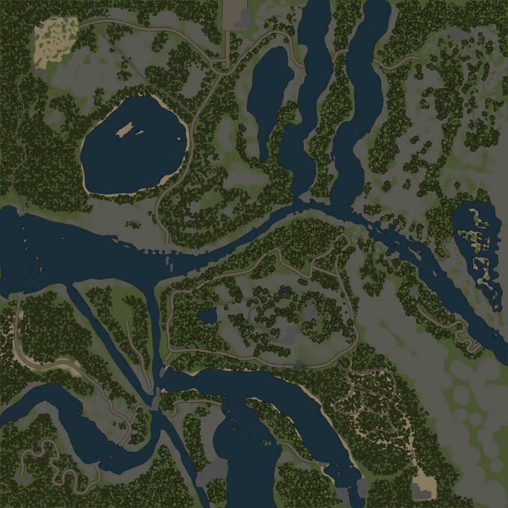 Карта «Горные реки»