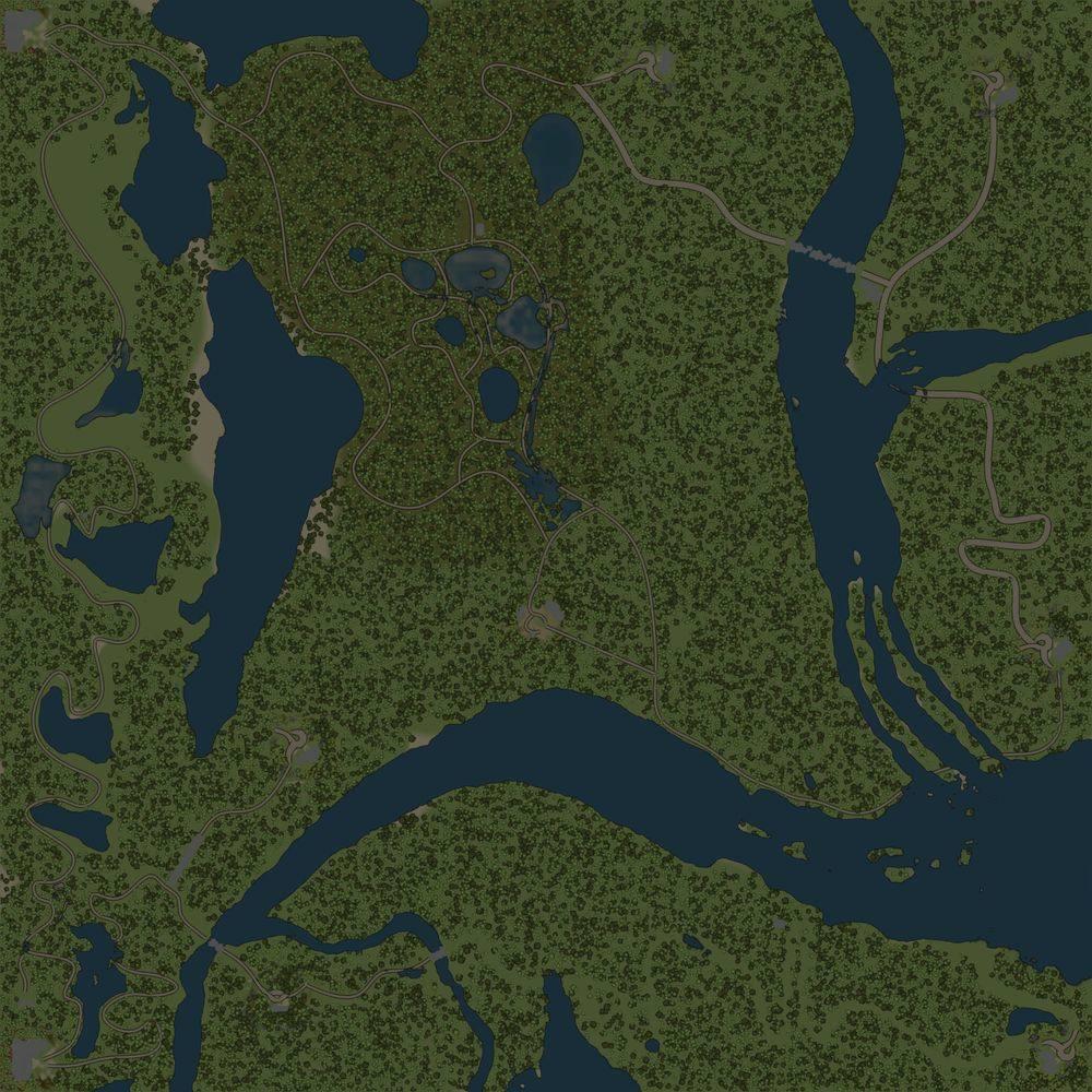 Карта «Горные реки и озера»