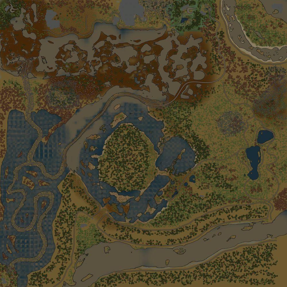 Карта «Заросшие холмы»