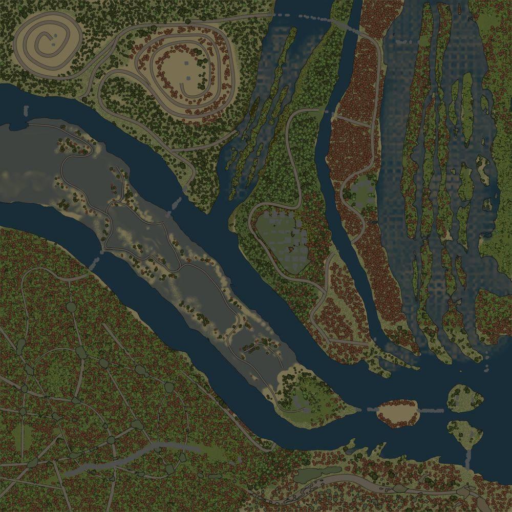 Карта «Хребет мертвых деревьев»
