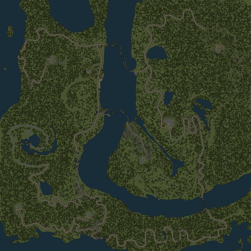 Карта «Змеиные дороги 2»