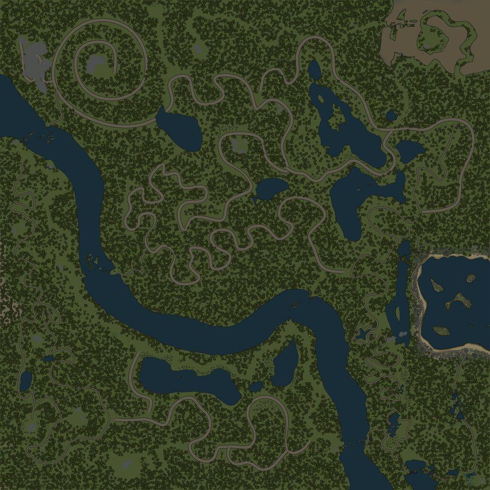 Карта «Змеиные дороги 4»