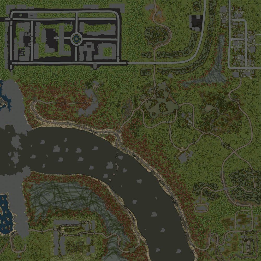 Карта «Maps Waterfall in Rocks»