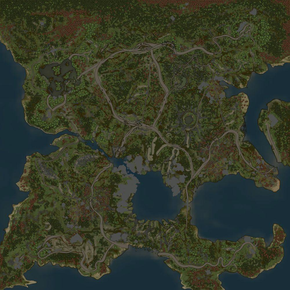Карта «Глубокие озёра»