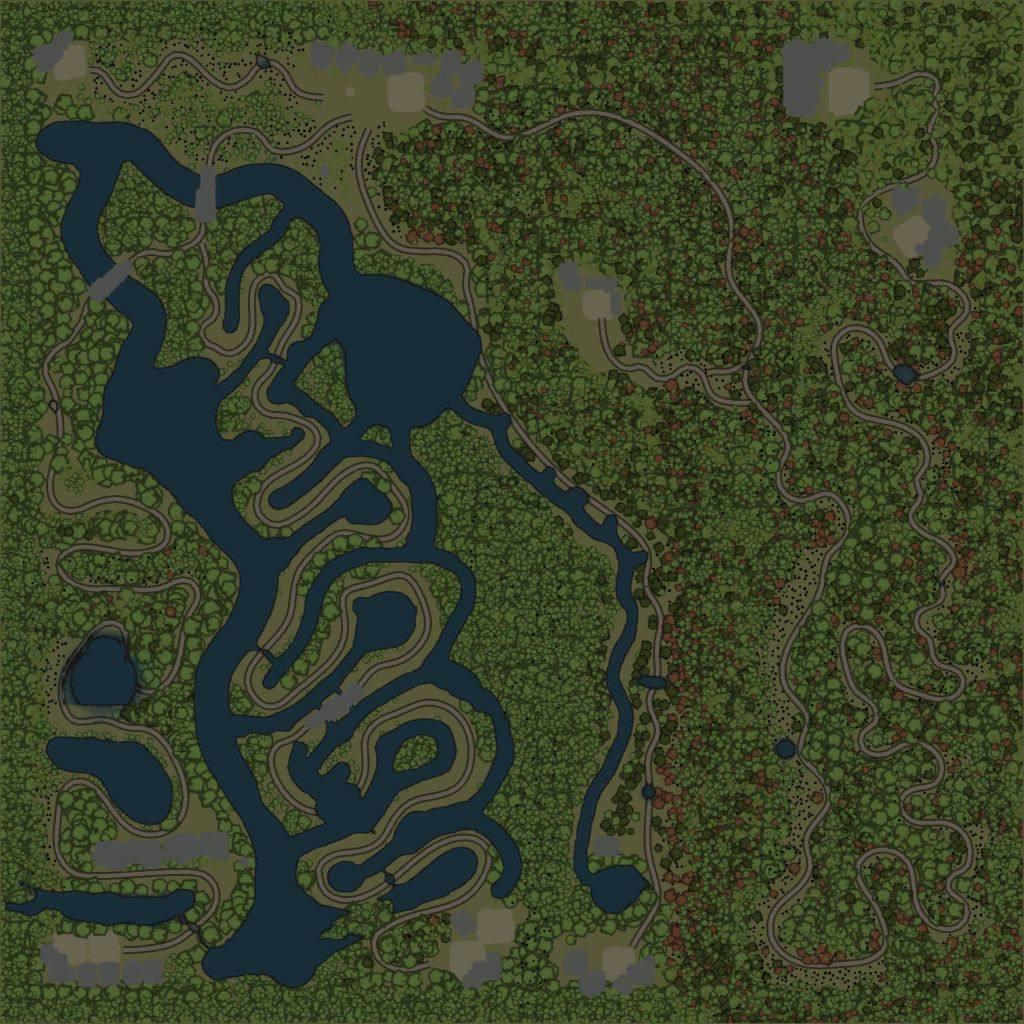 Карта «Дерябовская тайга»