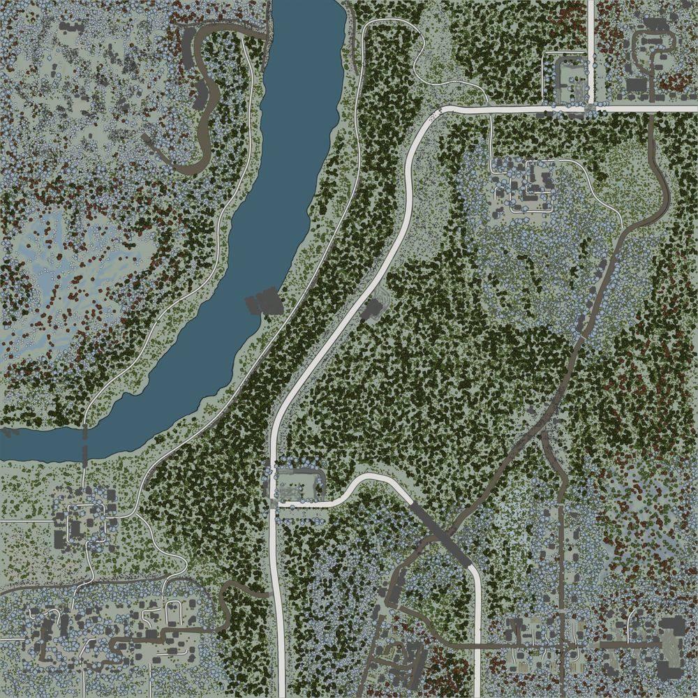 Карта «Maps Просторы Деревень 4. Зима»