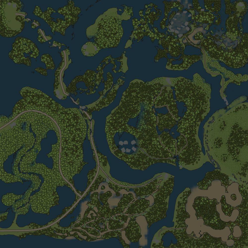 Карта «Затопленный лес 3»