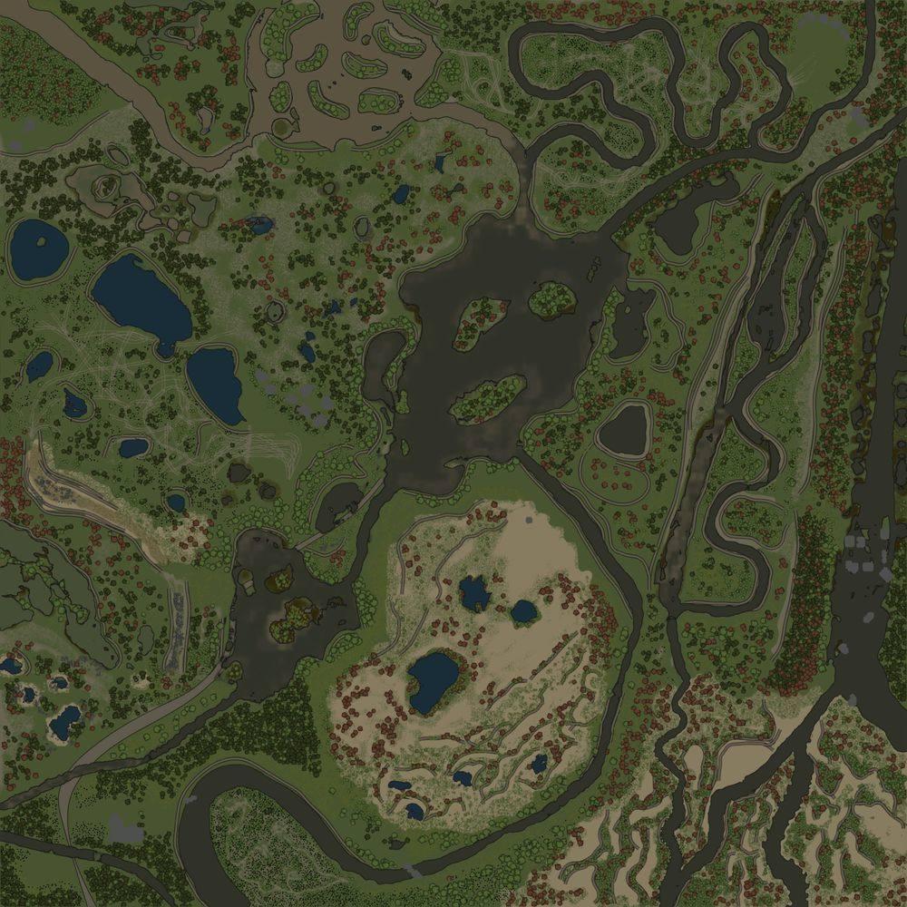 Карта «Старые лесные вырубки»