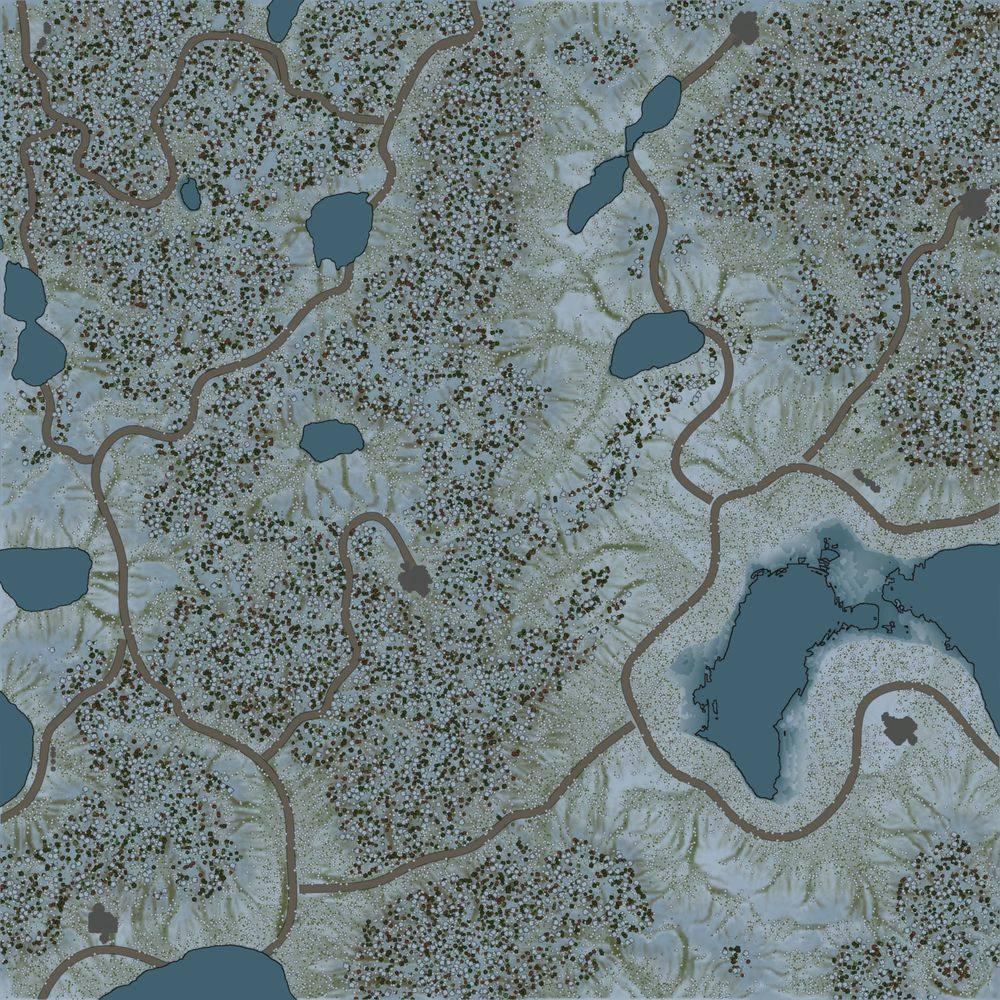 Карта «Snow Hills»