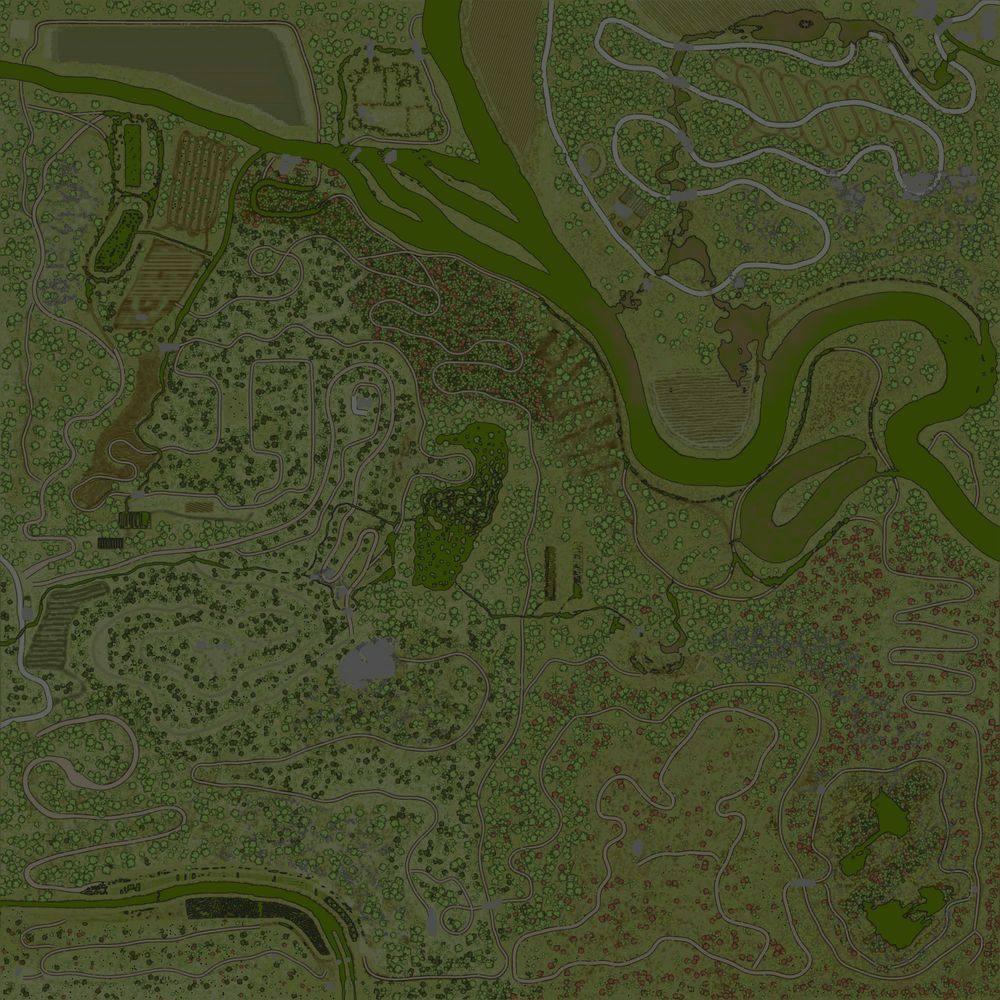 Карта «Maps Swamp Hills»