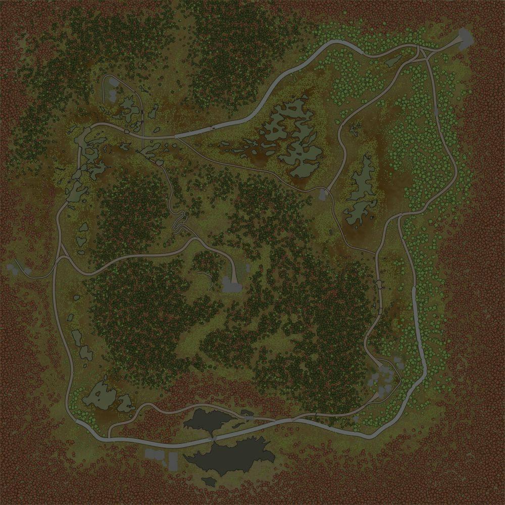 Карта «Торфяник (осень)»