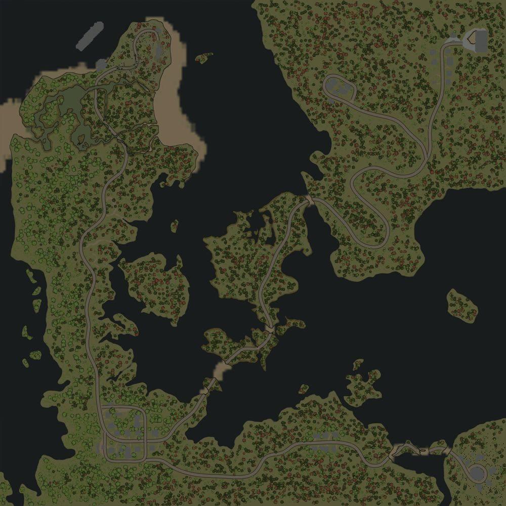 Карта «Два берега деревни»