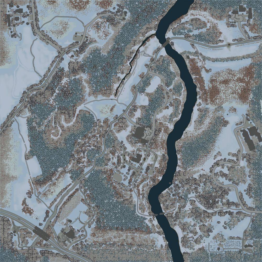 Карта «Зима у Кузьмича»