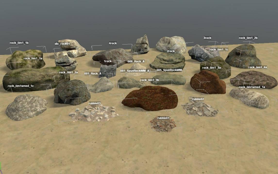 Камни для редактора карт
