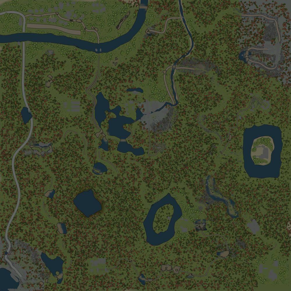 Карта «Голубые ели»