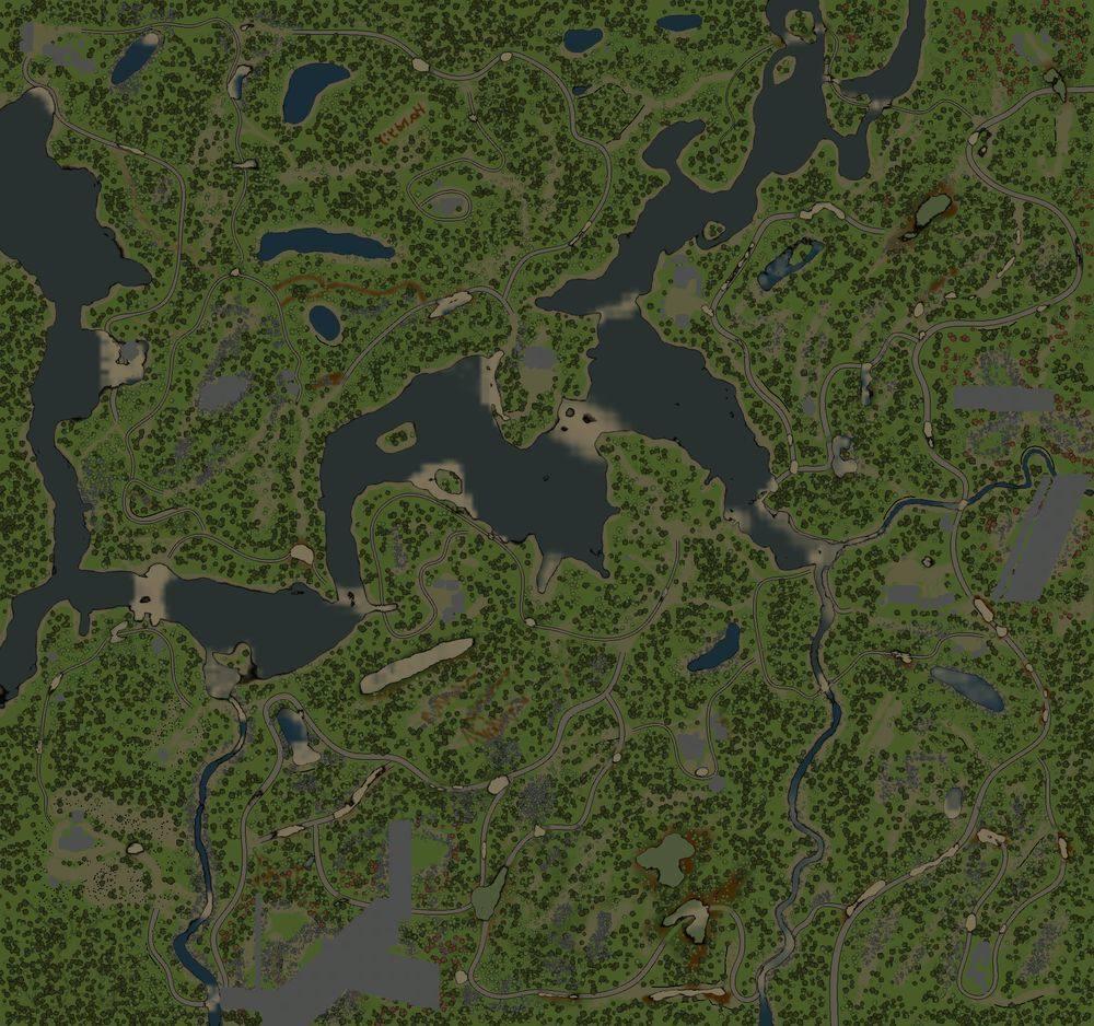 Карта «Край тысячи озёр: Ниванкюль»