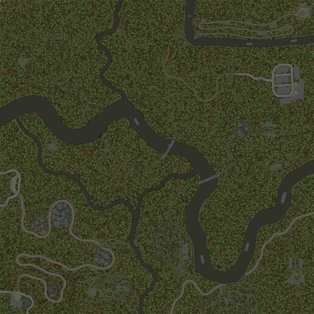 Карта «По долинам и по взгорьям»