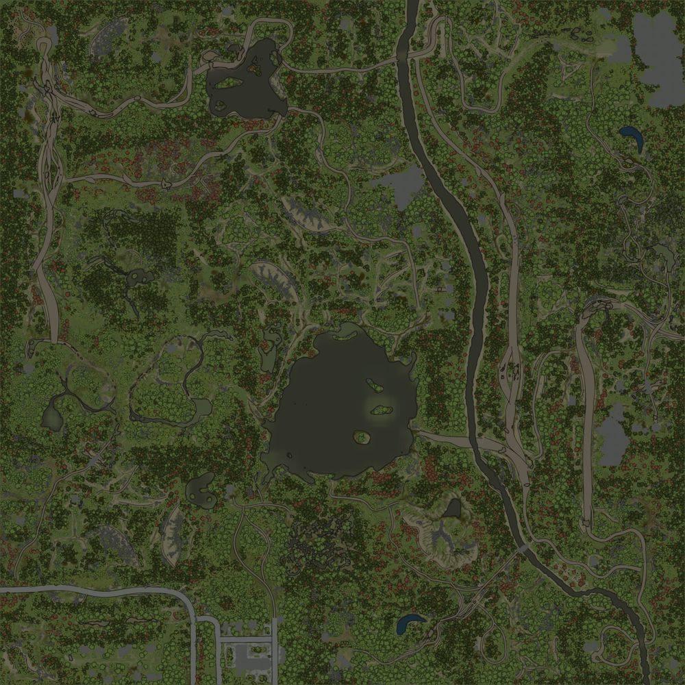 Карта «Озеро»