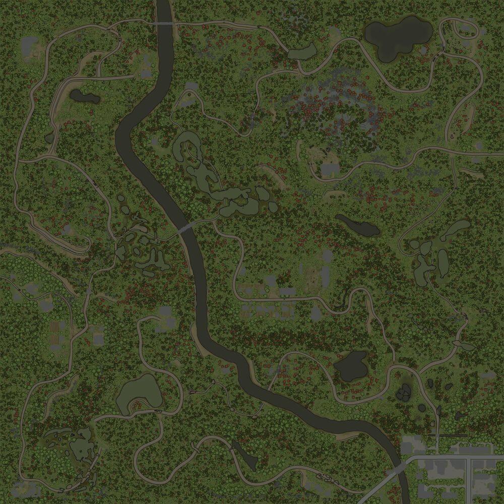 Карта «Лесные Хутора»